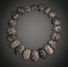 Andrea Williams, Winder Woods Necklace, 2012, sterling silver, De Patta Pebbles, 8 inches diameter