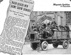 Featured in an August 13, 1919 Country Gentleman ad for the Eisemann magneto.  The 4WD Nash was he ancestor of the Willys Jeep.