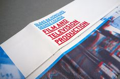Brochure design for Film and Television Degree Course Creative Brochure, Brochure Design, Great Websites, Pretty Packaging, Editorial Design, Behance, Graphic Design, Film, Blog