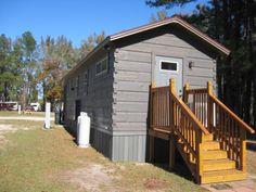Shotgun Log Cabin Park Model Tiny House (396 Sq. Ft.) by Dave Taylor