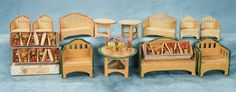 Small Courtesies: 351 Large Group of German Miniature Garden Furnishings by Karl Schreiter