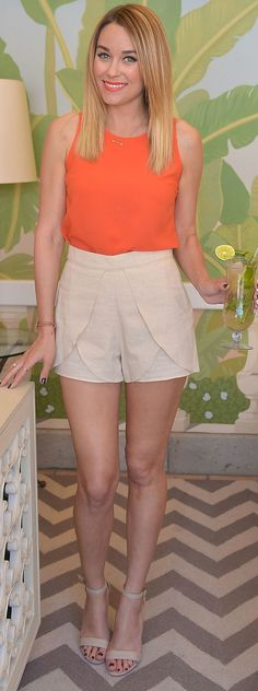 Tulip hemmed shorts. Fun update to classic khaki shorts.