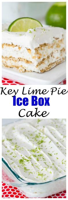 Key Lime Pie Ice Box Cake - Dinners, Dishes & Desserts - Everything you love about a sweet, tart, creamy key lime pie in a no bake ice box cake! The perfect no bake dessert for summer!