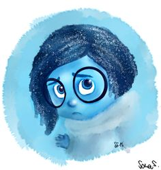 Sadness by SarasArtIllustration.deviantart.com on @DeviantArt  #sadness #insideout #fanart #pixar #tristezza