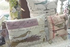 Vintage Inspired Pillows available at #earabstracts #boutique We ship!