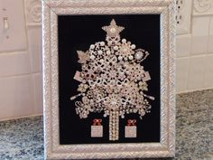 Framed Art Christmas Tree with by NotTooShabbyDesignCo on Etsy