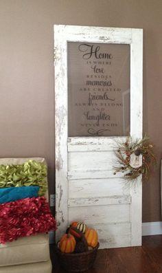 I love this idea.... Items similar to Antique Door Decoration on Etsy. , via Etsy.