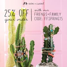 Friends + Family 25% off everything!