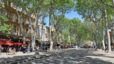 Aix-en-Provence Photo Gallery, by Provence Beyond Aix En Provence, Provence France, Terrace Restaurant, France Photos, European Vacation, Hot Springs, Old Town, Photo Galleries, Street View