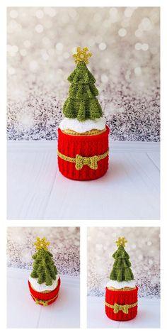 Crochet Christmas Ornaments, Christmas Crochet Patterns, Handmade Christmas, Christmas Crafts, Christmas Decorations, Crochet Amigurumi Free Patterns, Free Crochet, Knitting Patterns, Kawaii Crochet