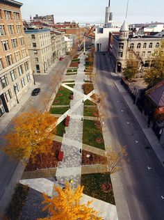 Claude CORMIER + associés, Place d'Youville (place publique), 2002, Montréal