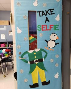Sometimes the hardest part of Christmas door decorations is figuring out the idea. In this post you will find plenty of inspiration from Elf Selfies to Gingerbread Houses to Grinch Acts of Kindness to Elf on the Shelf (and more)! Christmas Door Decorating Contest, Diy Classroom Decorations, Office Christmas Decorations, Winter Door Decoration, Classroom Ideas, The Grinch Door Decorations For School, Art Classroom Door, Kindergarten Classroom Door, Preschool Classroom Themes