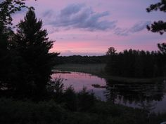 Sunset Sky over the Beaver Pond - northern Wisconsin.