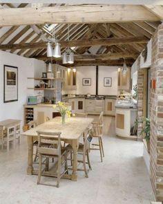 kücheneinrichtung dachschräge deko ideen küche42