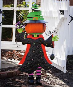 Take a look at this Wicked Witch Pumpkin Stand by Evergreen on #zulily today!