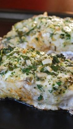 Grilled Halibut with Herbs