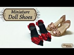 Miniature Doll Shoes - Polymer Clay tutorial - YouTube