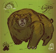 Bear by MisterFeelgood on DeviantArt Angry Animals, Big Bear, Creatures, Deviantart, Drawings, Artist, Artists, Sketches, Draw