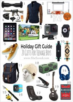 HOLIDAY GIFT GUIDE Gifts For Teen Boys