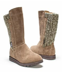 MUK LUKS Light Brown Stacy Boot - Women | zulily