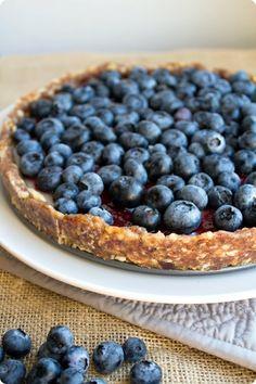 no bake blueberry pie -vegan,gluten free