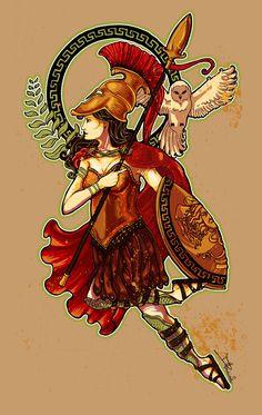Athena by dmillustration