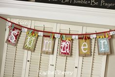 Brown paper bag banner. Happy Birthday! by ofelia