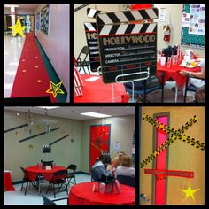Star Treatment ~ Teacher Appreciation complete with red carpet & a teacher lounge makeover!