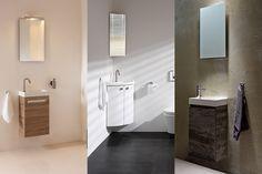 Primabad denkt ook aan het kleinste kamertje in uw huis. Dit toiletmeubel is door zijn compacte uitvoering in vrijwel ieder toilet toepasbaar. Tevens leverbaar in speciaal ontworpen ronde hoekuitvoering met bijpassende spiegel.