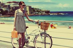 Beach and bicykle