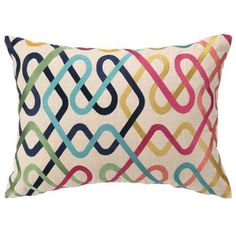 Multi-colored Embroidered Pillow