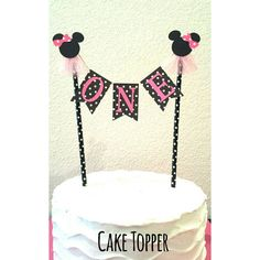 This listing is for a Minnie Mouse bunting/banner cake topper available @www.etsy.com/shop/tancyscreations