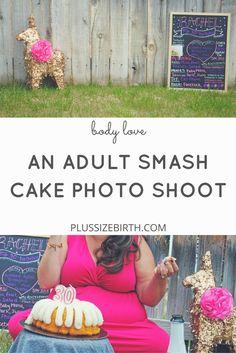 An Adult Smash Cake Photo Shoot & Body Love Story