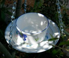 bird bath cups saucers | Cup n Saucer Bird Feeder n Bird Bath Combo by EDCCollective