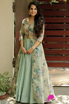 indian gowns dresses Thinking Spring - House of Ayana Long Dress Design, Dress Neck Designs, Blouse Designs, Half Saree Designs, Lehenga Designs, Party Wear Dresses, Dress Outfits, Fall Outfits, Fashion Dresses