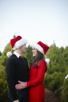 Christmas Engagement Session By Joielala Photographie. Christmas Tree  FarmChristmas ...
