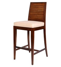 Stacked Bamboo Barstool  SKU: D2702-BS  David Francis Furniture  LOVE the horizontal lines of the back. Nice mix of Oriental and Tropical feel