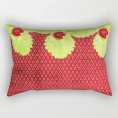 Strawberry LOVE Rectangular Pillow  #vintage #shabby #betterhome #society6 #homedecor #nobleness #elegant  #iphone #cover #cases