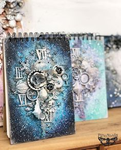 Galaxy Notebook - and classes updates! Galaxy Notebook, Canvas Collage, Mixed Media Canvas, Altered Art, Madness, Journaling, Projects To Try, Crafting, Scrapbooking