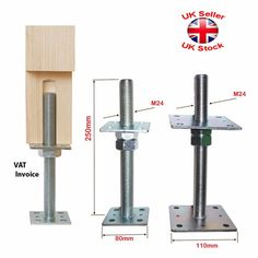 Heavy Duty Galvanised Bolt Down Post Support Height: 25 cm mm Timber Posts, Wood Joints, Joinery, Woodworking Projects, Used Woodworking Tools, Architecture Details, Garden Furniture, Home Projects, House Design