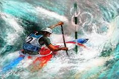 Image result for kayaking paintings