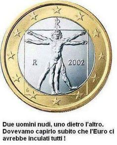 Coin Jewelry Vitruvian man uncirculated bimetal italian one euro coin cufflinks Euro Coins, Uncirculated Coins, Coin Jewelry, How To Find Out, Clock, Fun, Cufflinks, Free Market, Smile