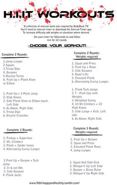 H.I.T. workouts