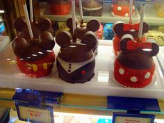 Disney inspired treats... Chocolate covered apples