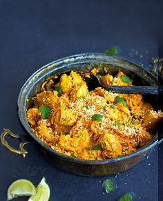 Our healthier chicken korma recipe is made with yogurt, making it lighter then the traditional version.
