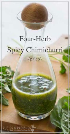 Flank Steak with Four Herb Paleo Chimichurri + Grass-fed meat and cookbook giveaway! No Carb Recipes, Primal Recipes, Real Food Recipes, Mexican Food Recipes, Cooking Recipes, Healthy Recipes, Sweets Recipes, Beef Recipes, Recipies