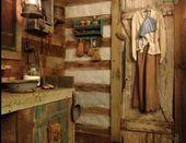 The cabin privy Primitive Bathrooms, Primitive Homes, Primitive Kitchen, Rustic Bathrooms, Primitive Antiques, Country Primitive, Primitive Decor, Rustic Kitchens, Prim Decor