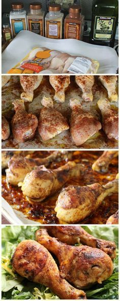 The best recipe for baked chicken drumsticks - gluten free, sugar free, low calorie, and paleo/whole 30 friendly.