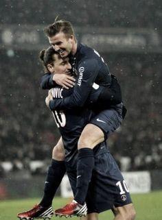 Zlatan et Beckham PSG