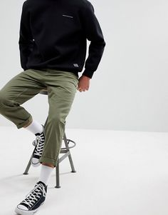 ASOS Skinny Fit Khaki Jeans Green Order now at: mode. Khaki Jeans, Jeans Kaki, Green Jeans, Men's Jeans, Skater Outfits, Converse Outfits, Men's Outfits, Fashion Outfits, Men Street
